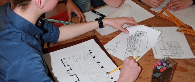 Michiel van Zoest Architectuur Architectuurworkshops en projectonderwijs_workshop bouwkundig schetsen_Mondial College 2020 001